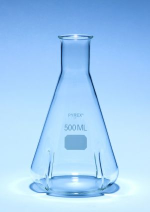 Pyrex® Flasks, culture, baffled