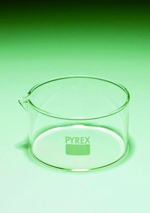 Pyrex® Crystallising dishes, flat bottom, with spout