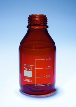 Pyrex® Bottles, media-lab, amber glass