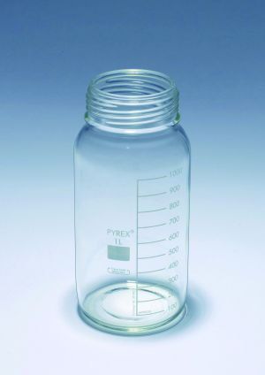 Pyrex® Bottles, media-lab, wide mouth, without cap and pouring ring