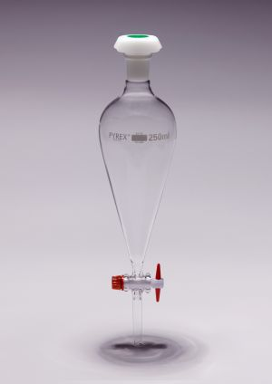 Pyrex® Separating Funnel, conical with PTFE key