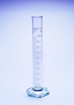 Pyrex® Measuring Cylinder with Spout, Class A, UKAS certified