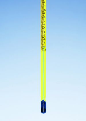 MBL® Thermometers, precision, blue spirit filled, total immersion