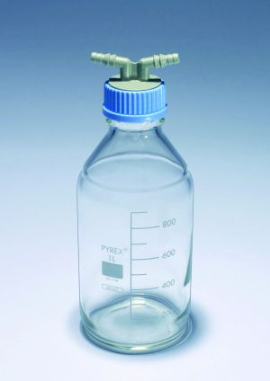 Twin hose connector for Pyrex® Media-Lab bottles