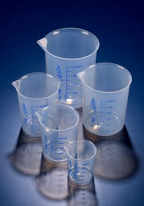 Azlon® Low form Griffin style beaker, Polypropylene