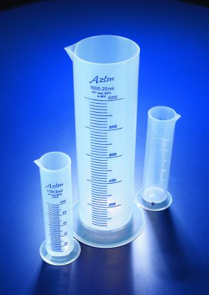 Azlon® Squat form cylinders, polypropylene