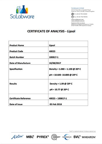 screen shot of CERTIFICATE_OF_ANALYSIS_BN_100817-1