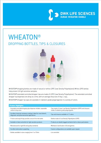 WHEATON<sup>®</sup> Dropping Bottles, Tips and Closures