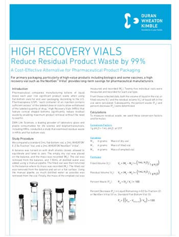 DWK WHEATON High Recovery Vials