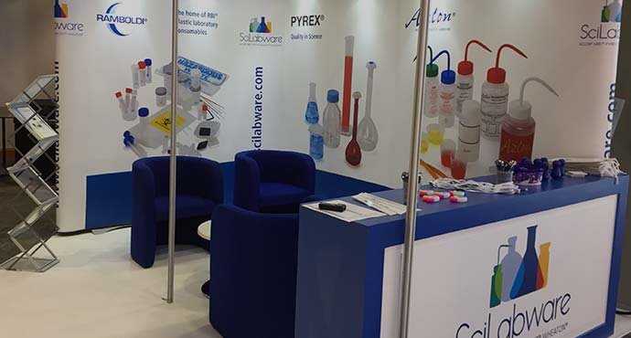 DWK Life Sciences exhibition stand